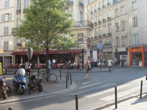 Paris - Marlene breakfast Cafe Buci street scene
