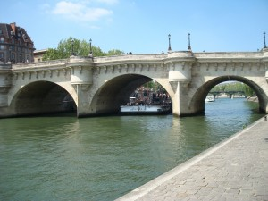 At the end of our street, the Pont Neuf