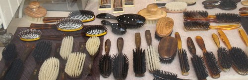 Paris - store window hair brushes