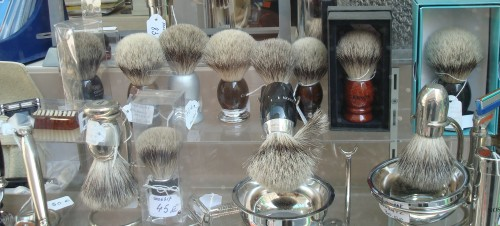 Paris - store window - shaving brushes