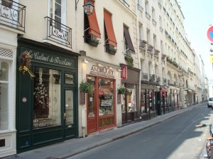 Paris - street of small stores