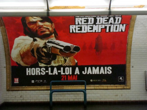 Paris - subway Red Dead Redemption poster