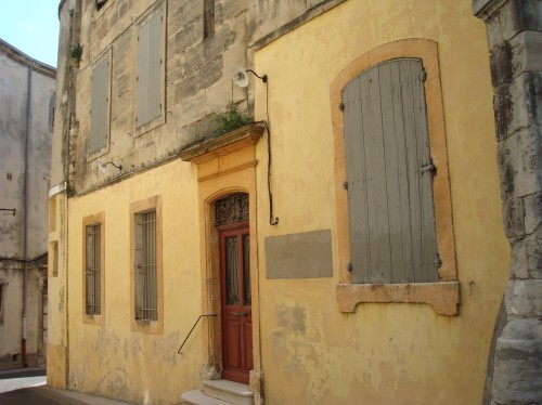 Arles - yellow house wall