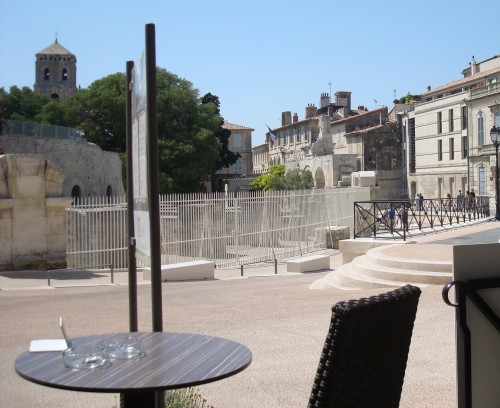 Arles - view from front of hotel