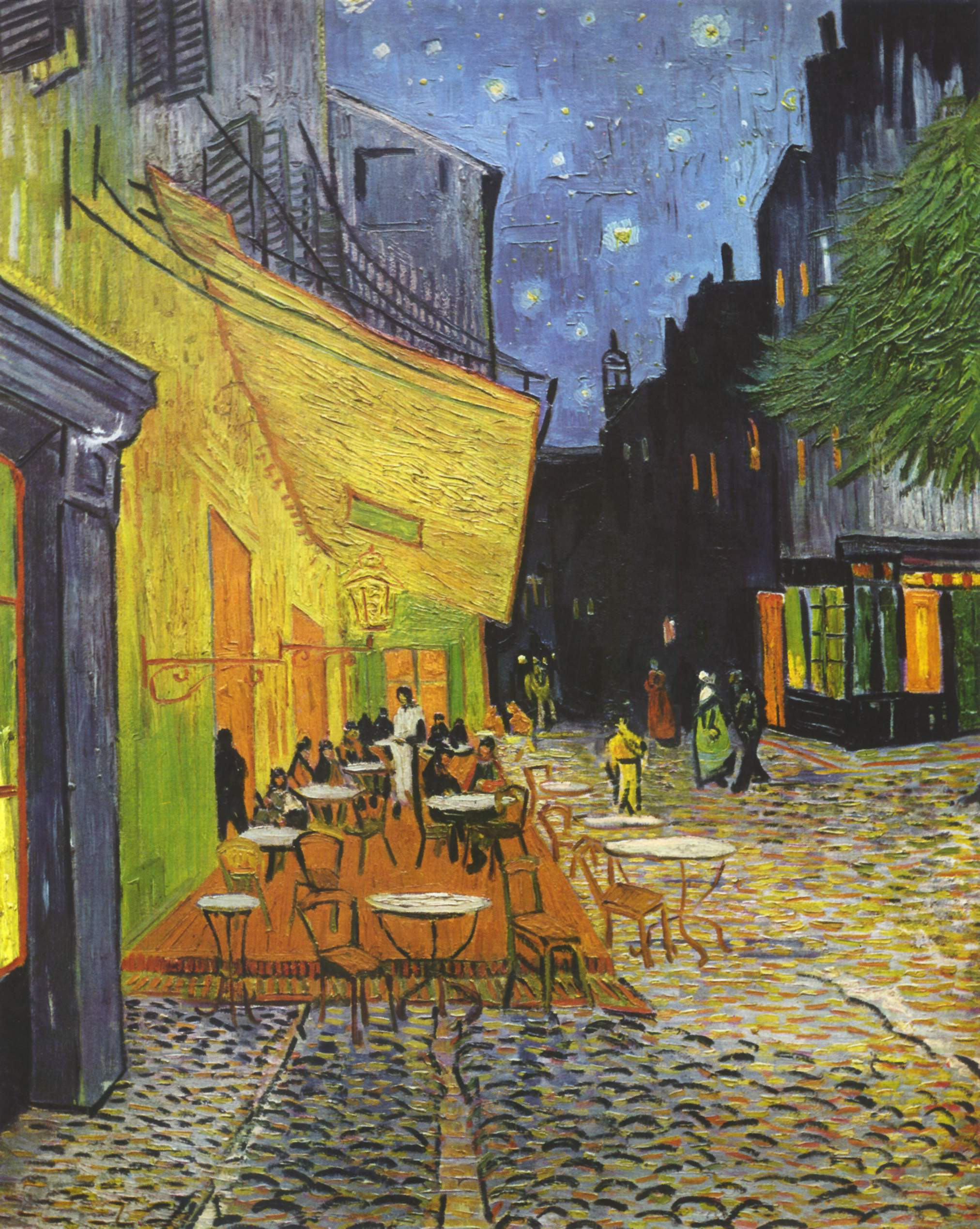 Van gogh 39 s caf terrace at night where is it paris for Terrace night