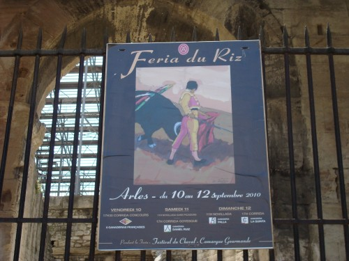 Arles - bullfighting poster
