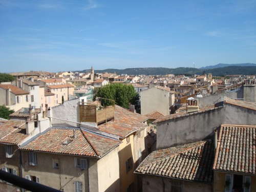 Aix - rooftops from hotel window