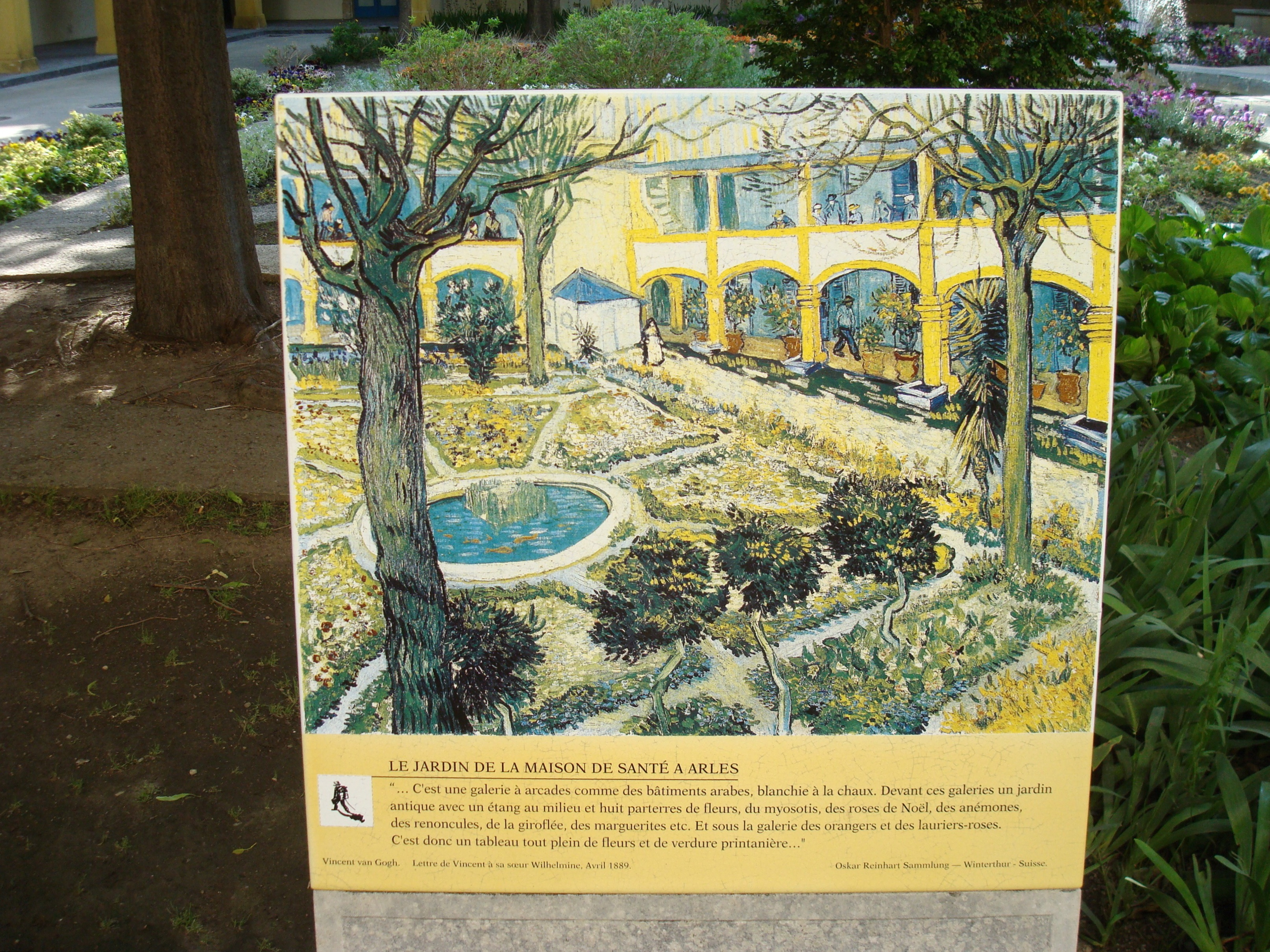 The sad Arles hospital | Paris Provence Van Gogh Paris Provence Van Gogh
