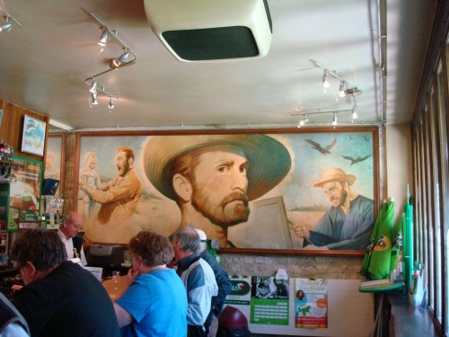 Auvers - Van Gogh mural in restaurant