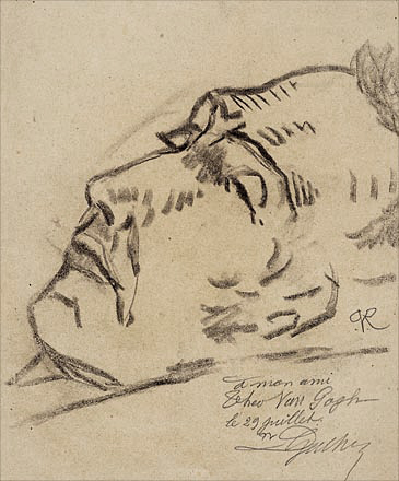 Dr. Gachet's sketch of Vincent Van Gogh