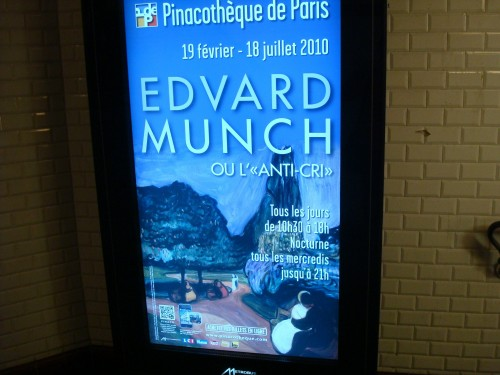 Paris - Munch metro ad