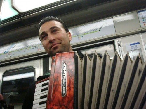 Paris - subway accordion player