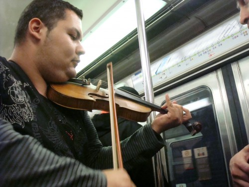 Paris - subway violin player