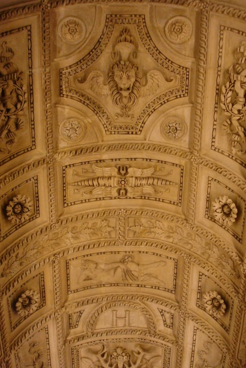 Paris - Louvre ceiling over staircase
