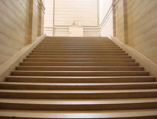 Paris - Louvre marble stairs