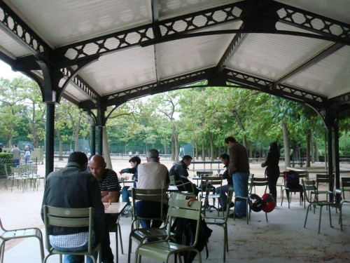 Paris - Luxembourg gardens chess players
