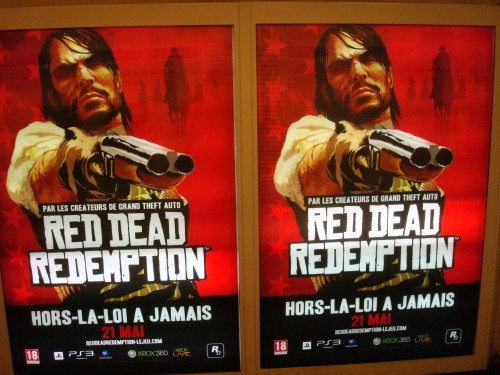 Paris - Red Dead Redemption metro ads