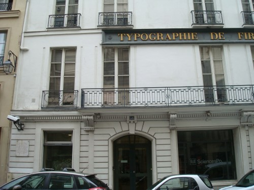 Paris - sign on Didot building