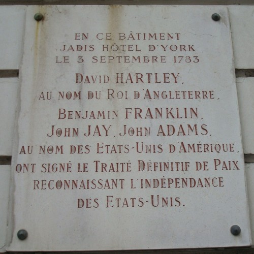 Paris - sign on building peace treaty