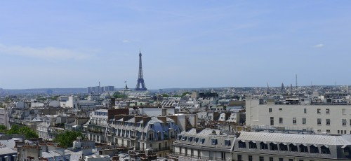 Eiffel Tower from roof of Au Printemps