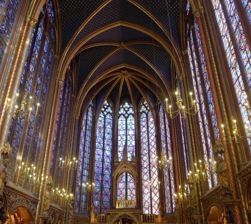 View from the back of La Sainte-Chapelle