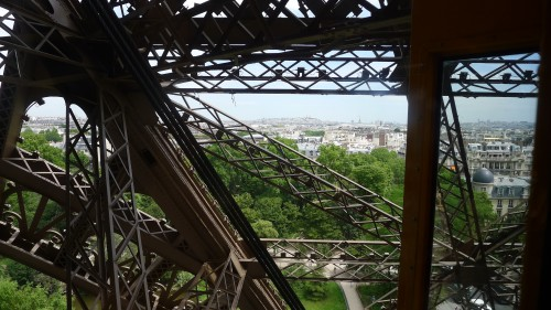 Eiffel Tower on the way up