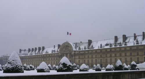 Invalides in the snow