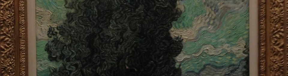 A painting that looks like one of Van Gogh's cypresses, but also potentially a fake by Wacker.
